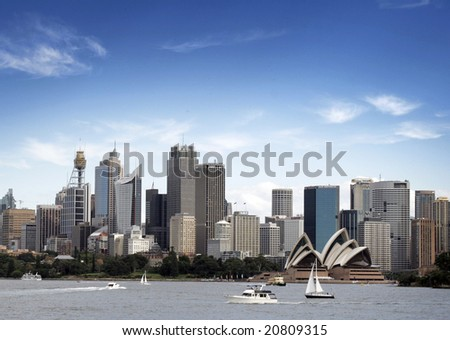 View of Sydney harbour from cremorne - stock photo