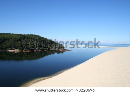 View of Tamboon Inlet, Far East Gippsland, Victoria, Australia - stock photo