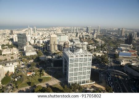 View of Tel Aviv - stock photo