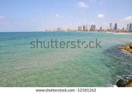 View of Tel Aviv, Israel capital - stock photo
