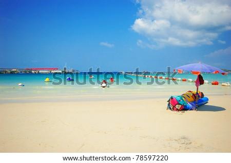 View of thailand beach, Koh Lan, Pattaya - stock photo