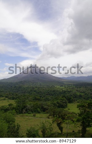 View of the active volcano Arenal in Costa Rica - stock photo