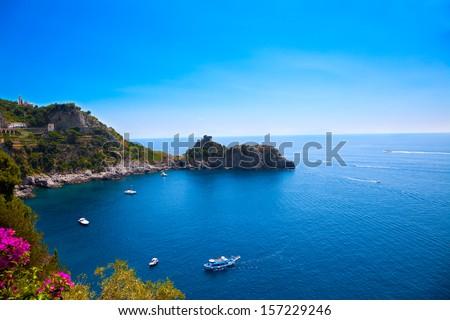 View of the Amalfi Coast, Italy. - stock photo