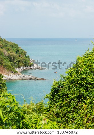 View of the Andaman Sea from the viewing point, Phuket , South of Thailand.