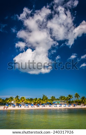 View of the beach in Key West, Florida. - stock photo