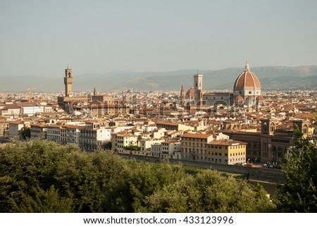 View of the beautiful city 'of Florence