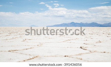 View of the Bolivian salt flats