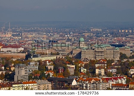 View of the Buda Castle, Budapest, Hungary - stock photo