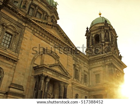 View of the cathedral in the city center. Berlin, Germany