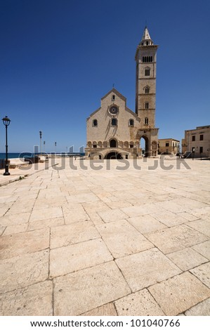 View of the cathedral in Trani - Apulia, Italy.