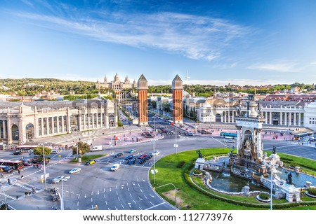 view of the center of Barcelona. Spain - stock photo