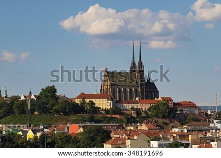 View of the Church Petrov in Brno