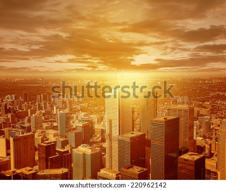 View of the city center. - stock photo