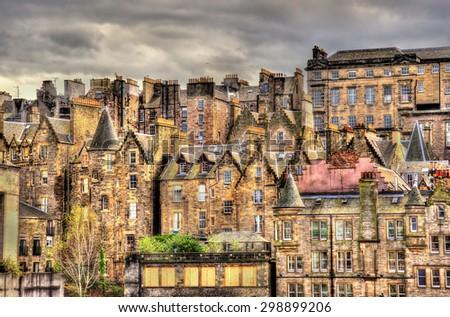View of the city centre of Edinburgh - Scotland - stock photo