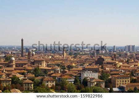 View of the city of Bologna ,Italy
