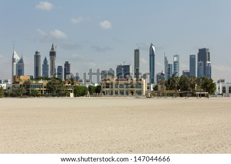 View of the city of Dubai - stock photo