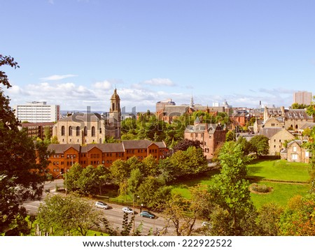 View of the city of Glasgow in Scotland - stock photo