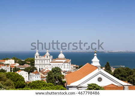 View of the city of Lisbon from Alfama