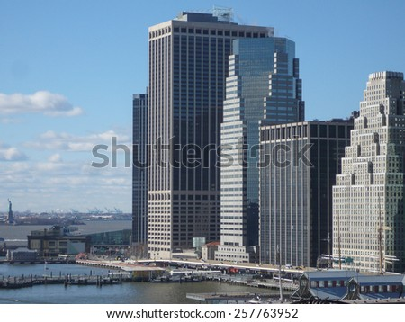 View of the city of New York in USA