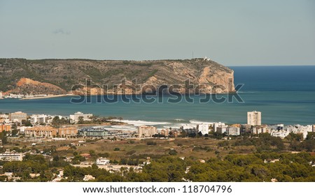 View of the coast of Javea in Spain