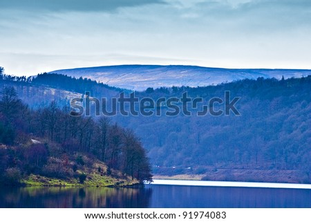 View of the dales, Peak District, England.