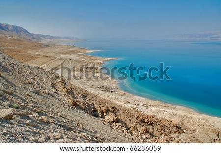 View of the Dead sea, Israel - stock photo