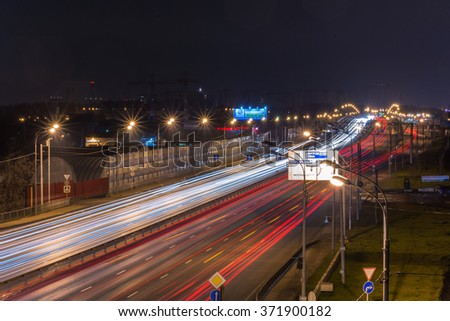 View of the Dmitrov highway in Moscow