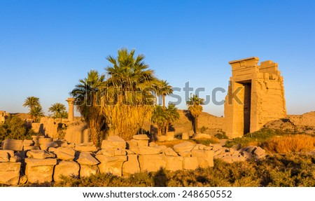View of the Eastern Gate in the Karnak temple - Egypt - stock photo