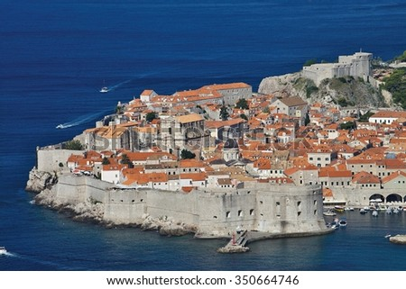 view of the fortifications of the old Dubrovnik, Croatia