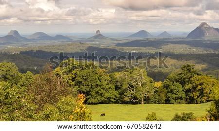 Glasshouse Mountains Stock Images RoyaltyFree Images Vectors