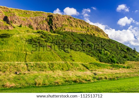 View of the hill in Scotland - stock photo