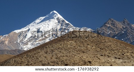 view of the Himalayas from the surrounding villages Jharkot