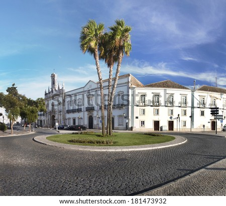 View Of The Iconic Landmark Church Of The City Of Faro, Portugal.