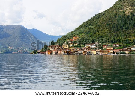 View of  the Iseo lake, Italy - stock photo