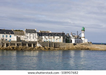 "view of the island "" ile de sein "" in brittany, france."