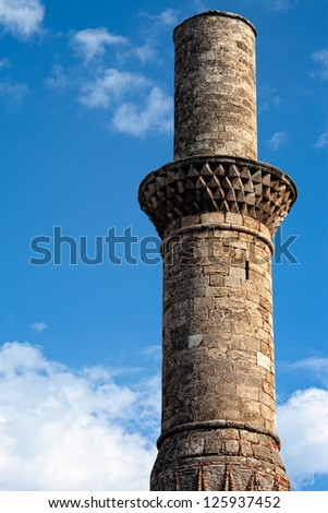 View of the Kesik Minaret in the old city of Antalya Turkey - stock photo