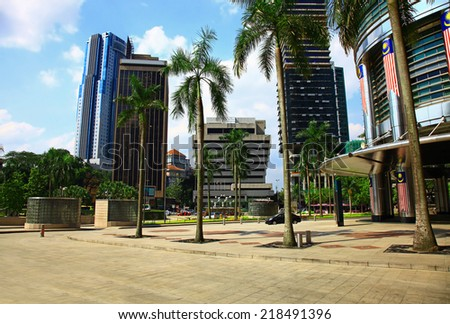 View of the Kuala Lumpur City Centre, Malaysia. Day. - stock photo