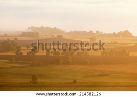 View of the landscape in sunrice - stock photo