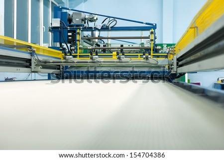 view of the machine for printing, machine, machine part - stock photo