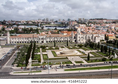 view of the monastery of Jeronimos, Lisbon