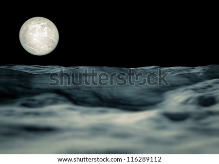 View of the moon - stock photo