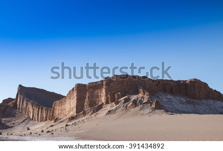View of the Moon Valley (Valle de la Luna) in Chile