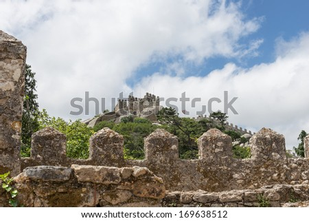 View of the Moors Castle in Sintra, Portugal - stock photo