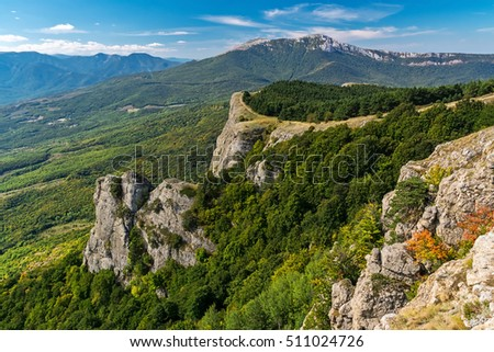 View of the mountain Demerdzhi, Crimea
