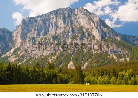 View of the mountain in Styria, Austria - stock photo