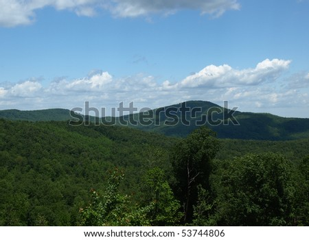 View of the mountains in Linville, North Carolina