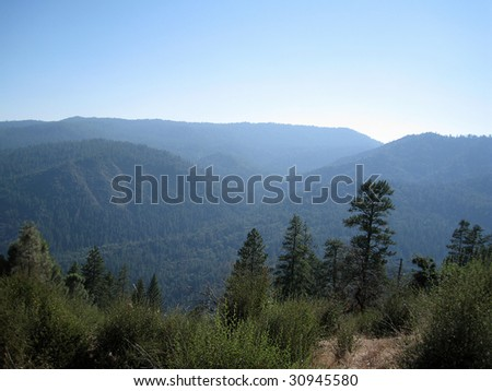 View of the mountains in Yosemite National Park, California, USA