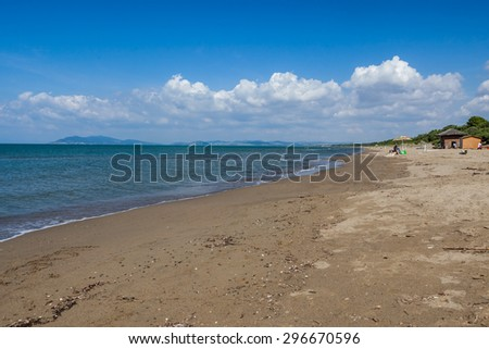 View of the nature of Monte Argentario, an island at the Tuscany coast, Italy - stock photo