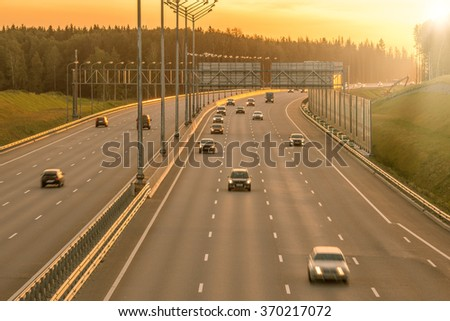 View of the new highway. - stock photo