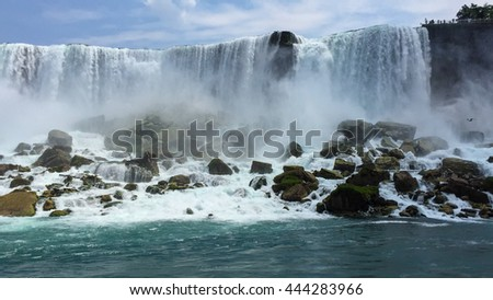 View of the Niagara Falls from the Niagara River